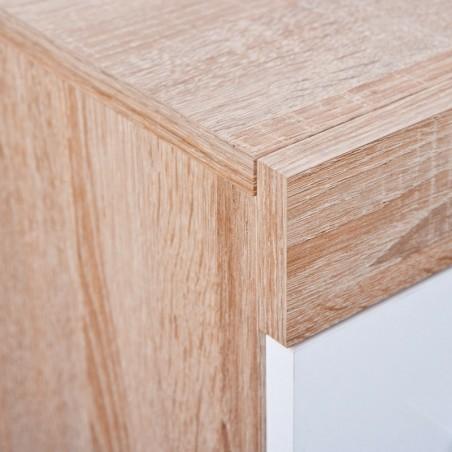 Dettaglio legno Credenza Toscana Bianca e Rovere