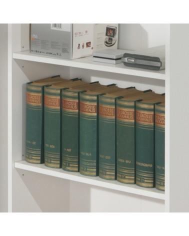 Dettaglio ripiani Libreria Series Bianco Piccola