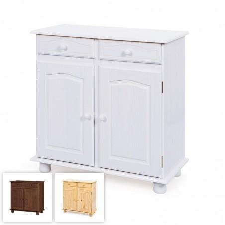 credenza bianca in legno Provenzale con 2 ante e 2 cassetti classica o shabby chic