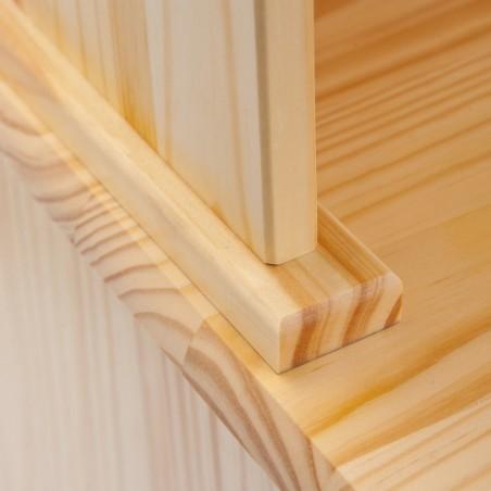 Dettaglio credenza con vetrina provenzale XL in legno naturale