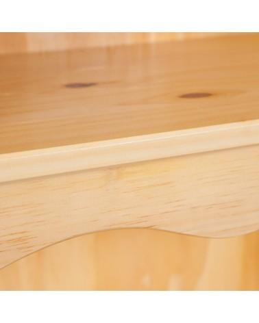 Dettaglio cornice credenza con vetrina provenzale XL in legno naturale