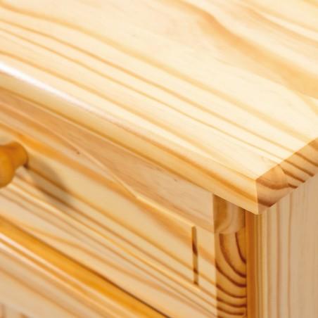 dettaglio credenza in legno naturale Provenzale 2 ante