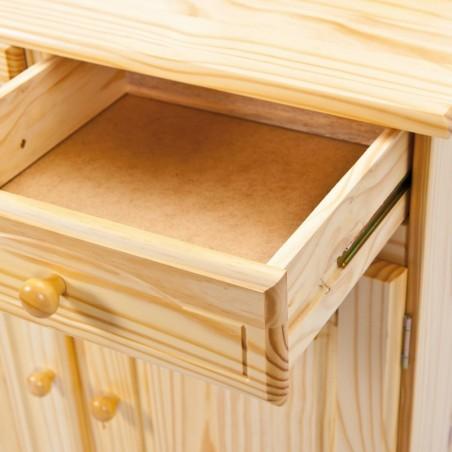 dettaglio cassetto aperto credenza in legno naturale Provenzale