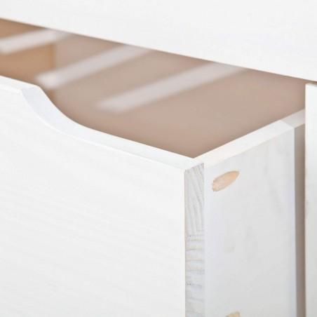 Letto Contenitore Matrimoniale Slide Bianco con cassettone aperto
