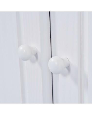 dettaglio maniglie a pomello credenza bianca in legno Provenzale