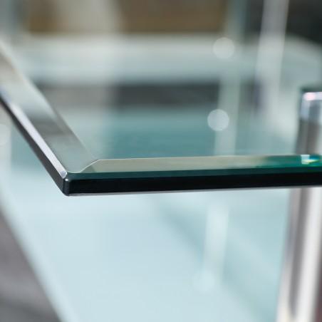 dettaglio vetro Tavolino da caffé Light Bianco