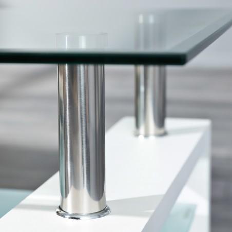 dettaglio vetro Tavolino da Salotto Light Bianco 5