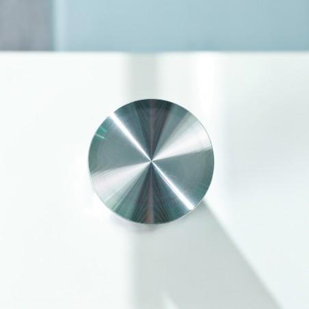 dettaglio metallo Tavolino da Salotto Light Bianco