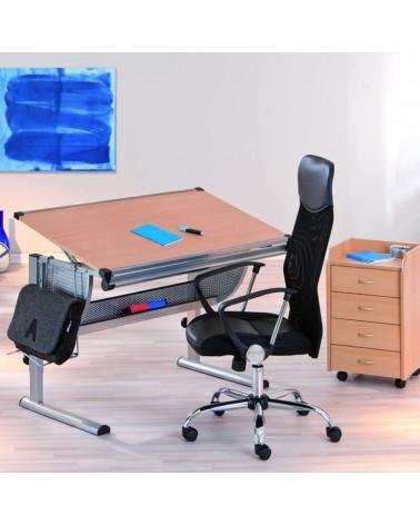 Poltrona da Ufficio e da studio Firenze ergonomica e imbottita con braccioli in pelle sintetica nera e rotelle