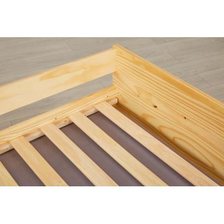 Dettaglio doghe Divano Letto Estraibile Triplo in legno massello naturale