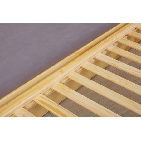 Dettaglio doghe secondo letto Divano Letto Estraibile Triplo in legno massello naturale