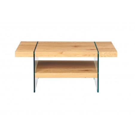 Tavolino Granchietto in legno e vetro