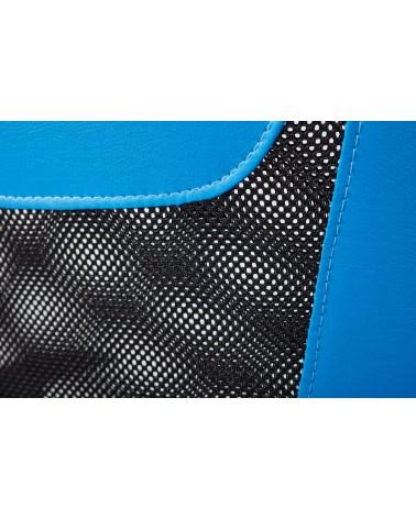 Poltrona Ufficio Vicenza Blu e Nero con schienale traspirante