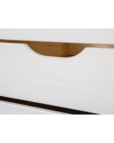 dettaglio maniglia Divano Letto Estraibile Double Bianco in legno