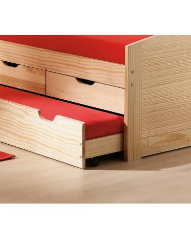 dettaglio letto estraibile Divano Letto Double legno Naturale