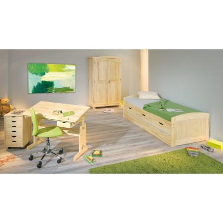 camera con Divano Letto Estraibile Double in legno Naturale