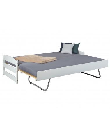 Letto Estraibile Level Bianco con secondo letto