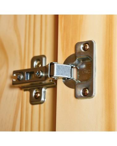 dettaglio cerniera Armadio 2 ante Leon legno Naturale