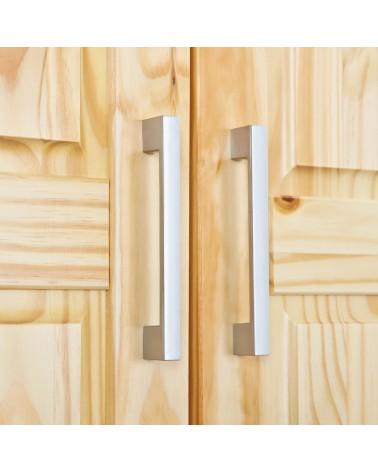 dettaglio maniglie Armadio 2 ante Leon legno Naturale