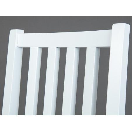 Dettaglio schienale Sedia bianca in legno Hakon