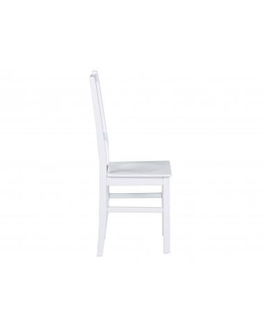 Sedia bianca in legno massello Hakon
