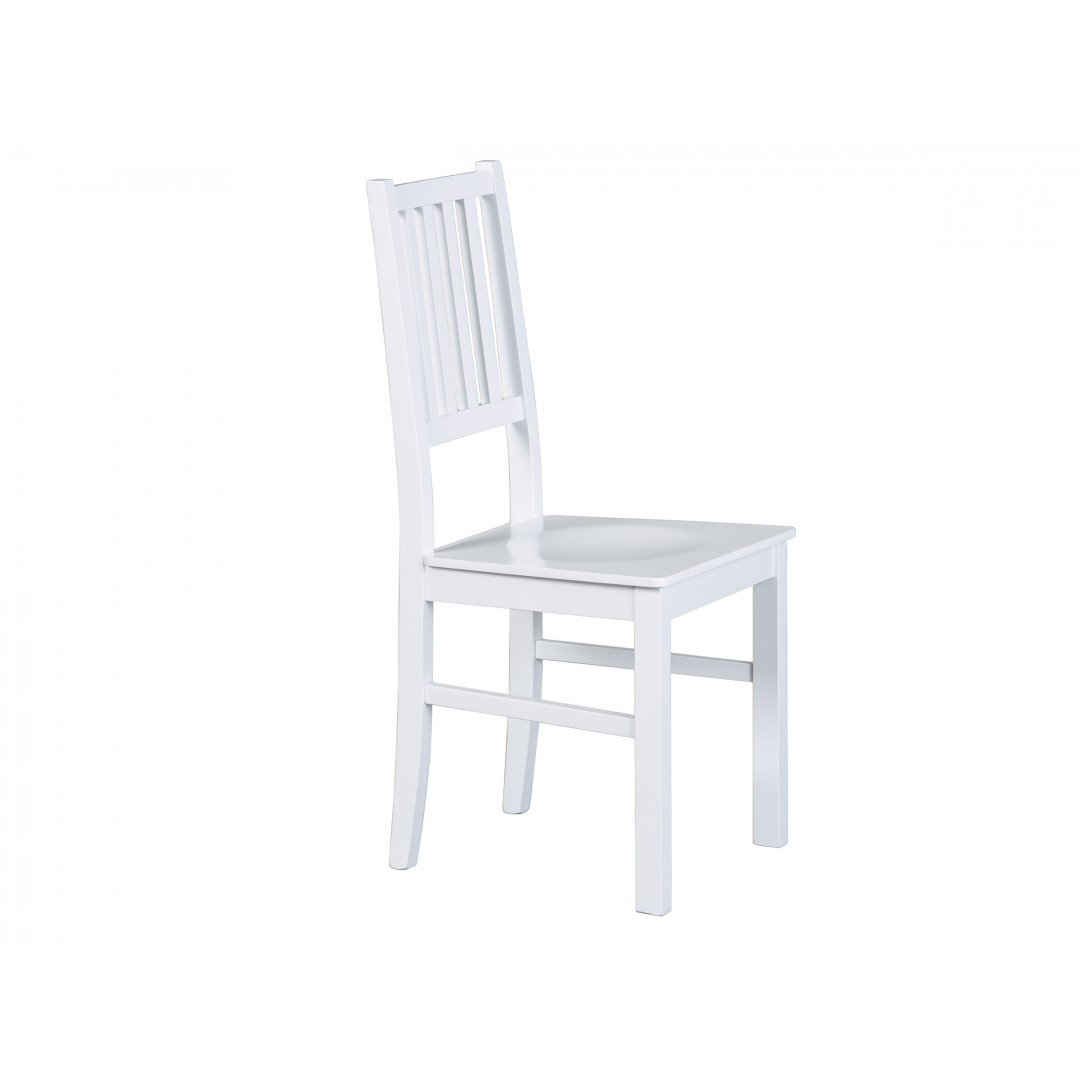 Sedia bianca in legno Hakon