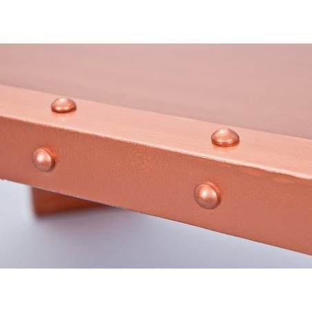 Tavolino Copper Rame dettaglio bordo