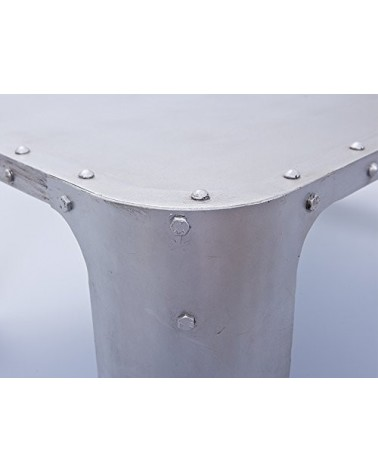 Tavolino Copper Argento artigianale