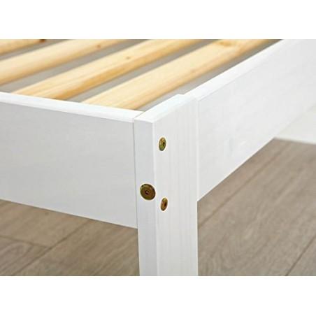 Letto singolo Lory in legno massello bianco 3