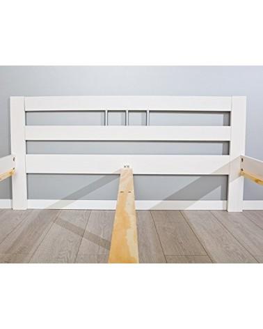 Letto singolo Lory in legno massello bianco 5