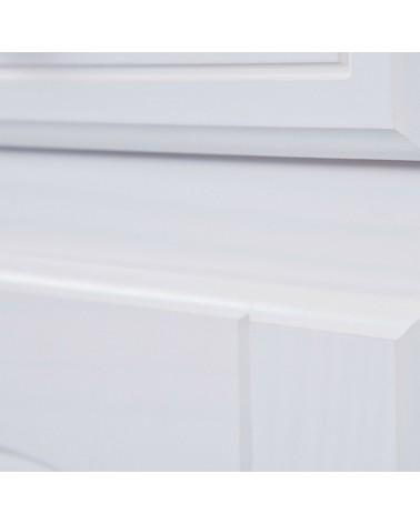Dettaglio legno credenza con vetrina provenzale bianca