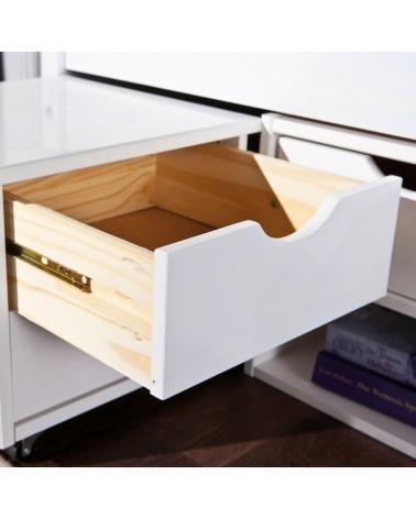 dettaglio guide in metallo dei cassetti del letto contenitore singolo Slide in Legno Massello Bianco