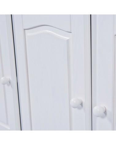 Dettaglio modanatura anta della credenza con vetrina provenzale XL classica e shabby chic