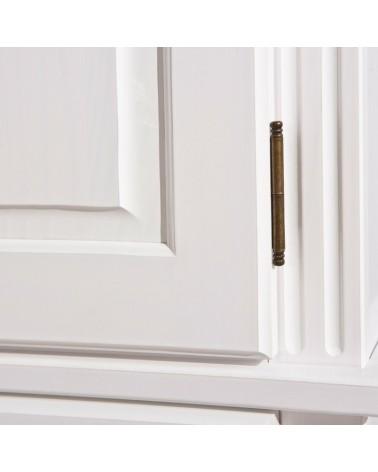 Dettaglio cerniera armadio Dana 2 ante bianco in legno