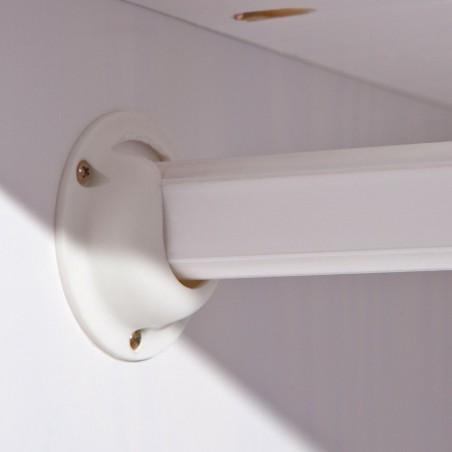 Dettaglio asta appendiabiti armadio Dana 2 ante bianco in legno