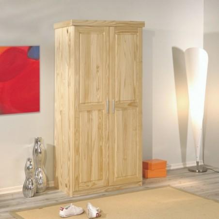 Armadio in legno di pino 2 ante finitura legno Naturale