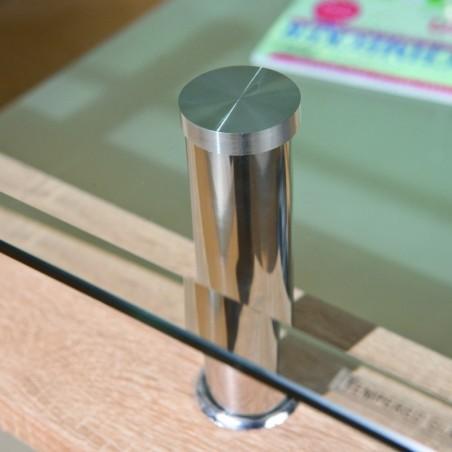 dettaglio vetro Tavolino da Salotto Light Rovere