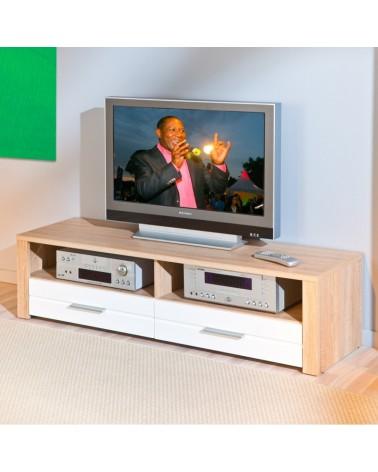 Porta tv Absol Rovere e Bianco