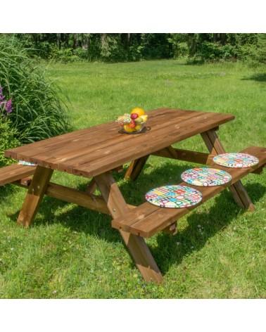Set tavolo e panche da giardino Camping in legno di pino