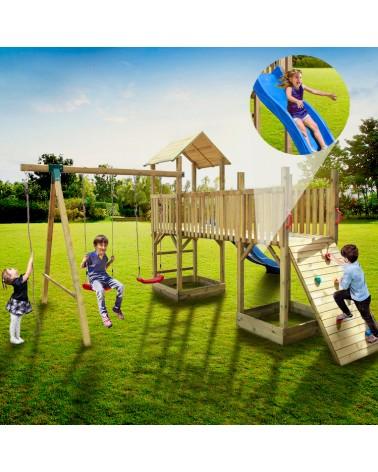 Torre Doppia con Altalena da Giardino per Bambini 1
