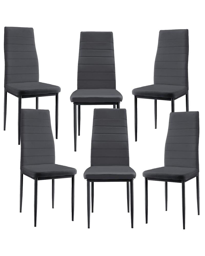 Set Tavolo da Pranzo Rettangolare e 6x Sedie in Similpelle ...