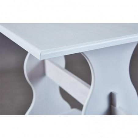 dettaglio tavolo in stile provenzale Holiday in legno bianco