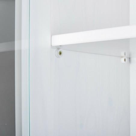 Credenza con vetrine Hakon due Bianco 4