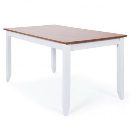 Tavolo Hakon Bianco e Noce 2