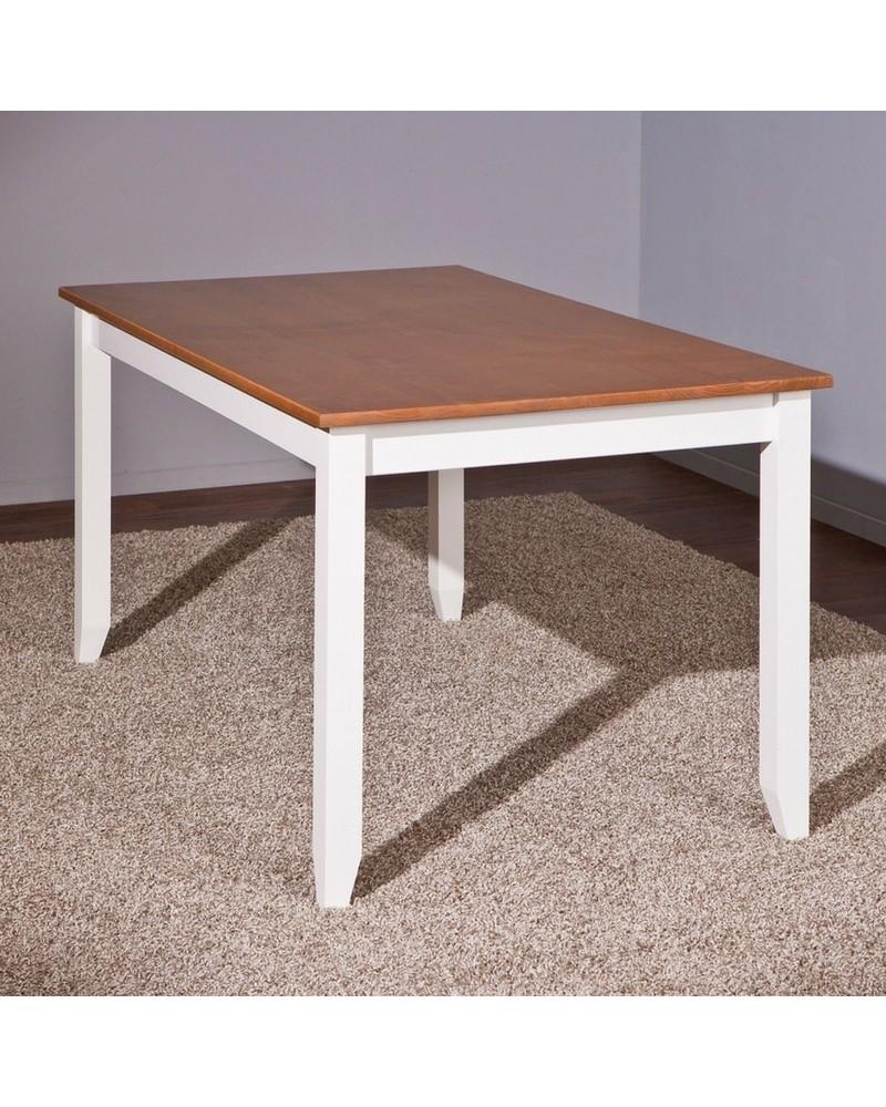 Tavolo Bianco In Legno tavolo hakon bianco/noce o bianco/legno chiaro - l160 x p90 x h75 cm