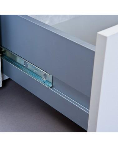 Porta tv Argo in MDF Bianco e grigio effetto cemento con 2 cassetti 5