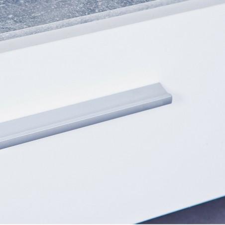 Porta tv Argo in MDF Bianco e grigio effetto cemento con 2 cassetti 6