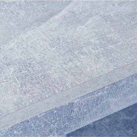 Porta tv Argo in MDF Bianco e grigio effetto cemento con 2 cassetti 7